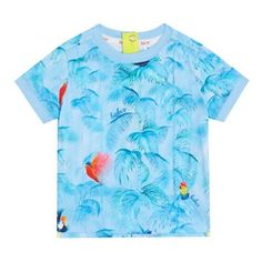 c1eb076d16da Baker by Ted Baker Baby boys  blue toucan print t-shirt