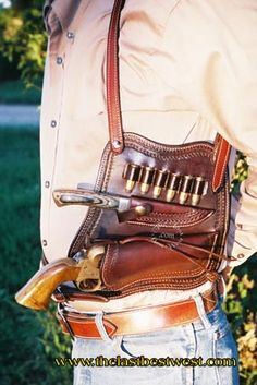 Combination Shoulder Holster - The Last Best West Gun Holster, Leather Holster, Leather Tooling, Cowboy Holsters, Custom Guns, Knife Sheath, Cool Guns, Le Far West, Leather Pattern