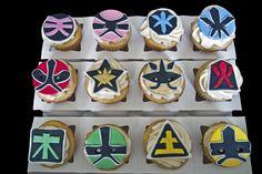 Power Rangers cupcakes.