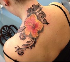 Lacey Realistic flower tattoos