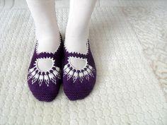 SALE Women socks, Handmade Slippers, Turkish Knitted Slippers, Authentic footwear, Stylish foot wear