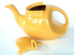 Vintage Hall Teapot Art Deco Yellow by @widgetsandwhatsus on @Etsy, @Jonathan Nafarrete London-Woman Business on Etsy $55.00 #handmade #promotehandmade
