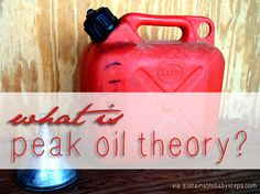 This page contains information to explain in simple terms the peak oil theory.