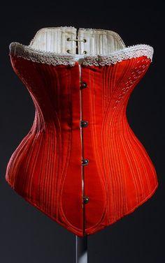 Corset, ca. 1880. Museum at FIT