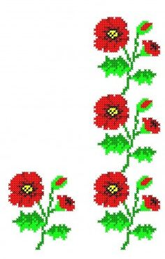 Poze FL065 Embroidery Patterns Free, Cross Stitch Embroidery, Cross Stitch Patterns, Bead Loom Bracelets, Bargello, Cross Stitch Flowers, Christmas Cross, Loom Beading, Needlework