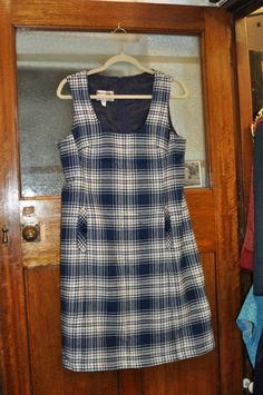 1960s vintage pinafore mod dress - http://whatkatydid.biz/product/vintage-clothing-and-accessories/1960s-vintage-pinafore-mod-dress/