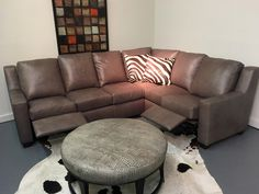 Frazier Recliner Sofa With Nails , American Heritage Leather Made In The  USA | Leather Reclining Furniture | Pinterest | Recliner And Leather Sofas