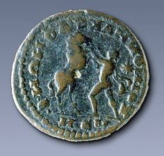 Young Alexander the Great taming Bucephales, about 2nd century BC. Athens Numismatic Museum.