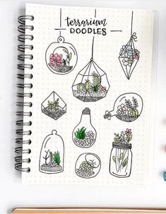 A bullet journal doodle inspiration by amazing ig Plant terrarium doodles. A bullet journal doodle inspiration by amazing ig -Plant terrarium doodles. A bullet journal doodle inspiration by amazing ig - Bullet Journal Aesthetic, Bullet Journal Art, Bullet Journal Themes, Bullet Journal Inspiration, Bullet Journals, Journal Ideas, Bullet Journal Doodles Ideas, Bullet Art, Journal Layout