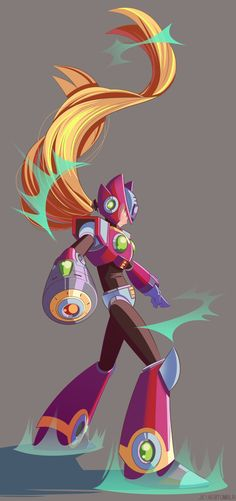 MegaMan Zero by jeiae on DeviantArt