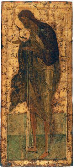 Иоанн Предтеча Москва 1425–1427 гг. Из деисусного чина Троицкий собор Свято-Троицкой Сергиевой Лавры, Сергиев Посад