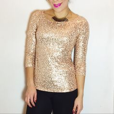 J. Crew Gold Drapey Sequin Tee J. Crew Drapey Sequin Tee in Gold. -3/4 sleeves.  -60% Cotton/ 25% Modal/ 15% Linen.  -Like new condition, no flaws.  NO Trades. Please make all offers through offer button. J. Crew Tops Tees - Long Sleeve