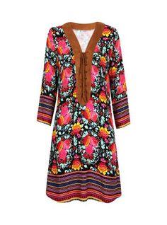 Vestido com estampa floral - Visite Riachuelo.com.br