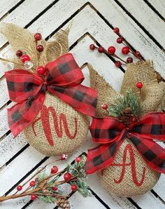 rustic christmas Personalized Rustic Christmas Ornaments, Set of 2 . rustic christmas Personalized Rustic Christmas Ornaments, Set of 2 or Christmas Decor, Tree Ornament, Fa. Rustic Christmas Ornaments, Country Christmas Decorations, Christmas Tree Decorations, Burlap Ornaments, Handmade Ornaments, Glass Ornaments, Personalized Christmas Ornaments, Christmas Projects, Holiday Crafts
