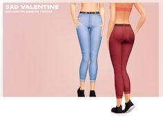 gohliad: sad valentine; high waist alpha jeans for females I know there are like 9,000 pairs of alpha jeans out there, but- these are mine. I went over them and hand-painted 'em, so the textures are smooth and not crunchy. They can't be worn will...