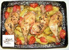 Portugál tepsis csirke ennél klasszabb már nem is lehetne módra Annától :) A tepsi amiben készült pedig külön... - MindenegybenBlog