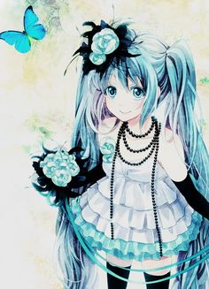 Miku (Vocaloid)  omfg I love this picture <3 <3 <3 ;3