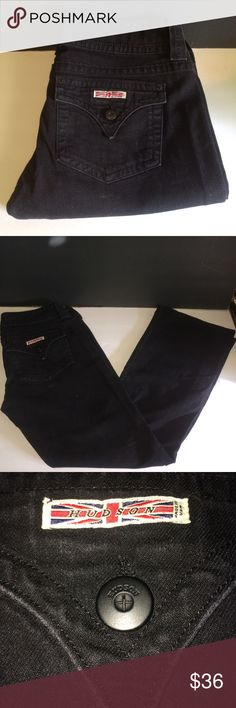 HUDSON JEANS #W170DOB Black Boot Cit SZ.31 EUC Women's HUDSON JEANS W170DOB Black Boot Cut Size 31 EUC It is 100% guaranteed to be 1st quality originals.  No discoloration, loose threading, stains, etc. Ready to wear from a 100% smoke/pet free home. A great gift or addition to your personal collection. Take a look at the pics and feel free to contact me with any questions or concerns Hudson Jeans Jeans Boot Cut