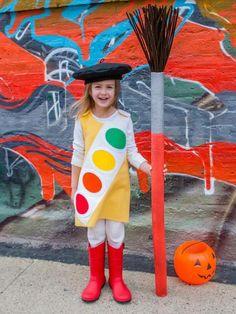 DIY-Karnevalskostüme für Kinder-Maler-Accessoires-Palette und Malpinsel