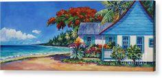 Grand Cayman Wall Art - Painting - Cottage On Beach by John Clark Your Paintings, Beautiful Paintings, Original Paintings, Tropical Art, Tropical Vibes, John Clark, Clark Art, Caribbean Art, Thing 1