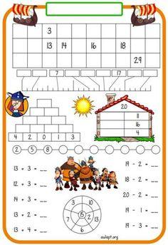 Montessori Math, Preschool Curriculum, Kindergarten Math, Teaching Math, Math Games, Math Activities, Math Drills, Math Sheets, 1st Grade Math