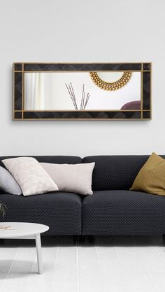 WOODMİRROR - BLACK MAMBA VI Sofa, Couch, Wood Mirror, Black Mamba, Furniture, Home Decor, Settee, Settee, Decoration Home