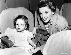 Judy Garland i mała Liza Minnelli