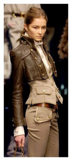 Dolce & Gabbana - Very steampunk...that vest and jacket is everything! Knee high brown leather riding boots...im in love with this look
