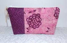 Batik Zipper Pouch Cosmetic Travel Accessories Bag  by KeriQuilts, $14.00