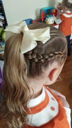 2 dutch braids into a pony tail ♡