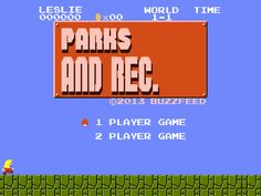 "If ""Parks And Recreation"" Were An Old-School Nintendo Game: WHEN IS THIS AVAILABLE?"