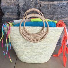 Beach Glam Tropical Colored Beach Bags