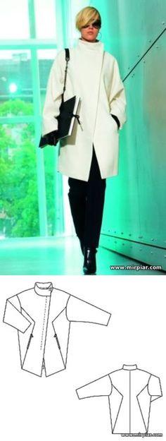 free pattern, пальто, выкройка пальто, pattern sewing, выкройки скачать, шитье, готовые выкройки, выкройки бесплатно, MirPiar.com