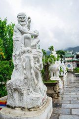 The statue of buddha ( goddess of mercy - Quan Am ) in Linh Ung Pagoda, Da Nang, Vietnam