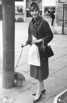 missingaudrey:  Audrey Hepburn and Mr. Famous walking in Rome, circa 1961