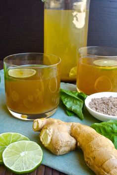 Basil ginger tea use raw honey and organic ingredients for maximum health b Yummy Drinks, Healthy Drinks, Healthy Recipes, Healthy Herbs, Detox Drinks, Juice Smoothie, Smoothies, Smoothie Recipes, Fuze Tea
