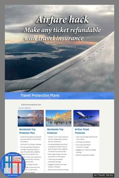 Airfare Hack: Make any ticket refundable with travel insurance travel insurance campaign Airfare Hack: Make any ticket refundable with travel insurance travel insurance campaign Travel Advise, Travel News, Travel Guides, Travel Hacks, Travel Flights, Travel Rewards, Air Travel, Summer Travel, Travel Insurance Reviews