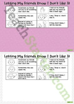 Social Stories – Letting My Friends Know I Don't Like It