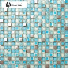 TST Glass Metal Tile Blue Steel Inner Crackle Chips Bath Kitchen Remodeling Decor  http://www.tstmosaictiles.com/index.php?route=product/product&product_id=210&search=TSTMGB030
