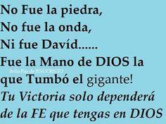 Ntra victoria dependr de la Fe que le tenemos a Dios