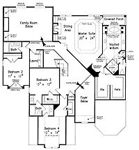 First Floor Plan of Mediterranean House Plan 54722 if and when
