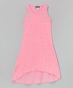 Look at this #zulilyfind! Pink Hi-Low Shift Dress - Girls by InGear #zulilyfinds