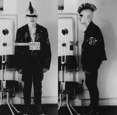 A punk interrogated by the infamous East German secret police, known as the Stazi, in 1982. via reddit