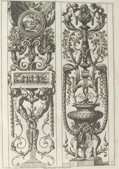 arabesque and grotesque fountain designs