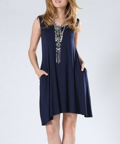 Another great find on #zulily! Navy Pocket Shift Dress #zulilyfinds