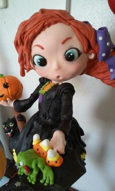 Halloween cake: Wendy the witch on a broom - Cake by Perfect Indulgence Cakes