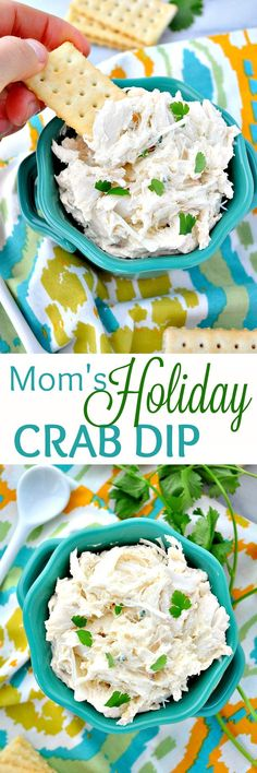 You Just need 10 minutes to prepare Mom's Holiday Crab Dip! Serve it hot or … You Just need 10 minutes to prepare Mom's Holiday Crab Dip! Serve it hot or cold for an easy appetizer that's perfect for every celebration! Seafood Dip, Seafood Appetizers, Appetizer Dips, Appetizer Recipes, Shrimp Dip, Italian Appetizers, Cheese Appetizers, Crab Dip Recipes, Pastas Recipes