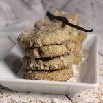 Leckere vegane Sesam-Vanille-Kekse, einfach zu backen und ohne Palmöl/Palmfett. Perfekt für jeden Sesam- und Vanilleliebhaber.