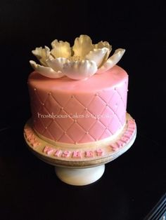 Blooming Love bridal shower cake by Frostilicious Cakes & Cupcakes