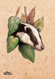 Badger tattoo design by redtrujillo on deviantART